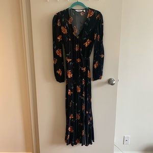 & Other Stories black floral wrap dress
